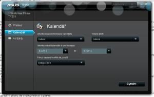 Můžete synchronizovat kontakty a kalendář mezi PC a tabletem