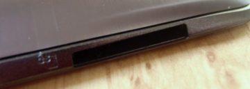 Slot čtečky paměťových karet typu SD