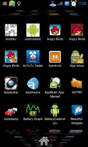 Seznam aplikací připomíná vodopád