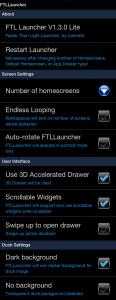 Veškeré možnosti nastavení FTL Launcheru