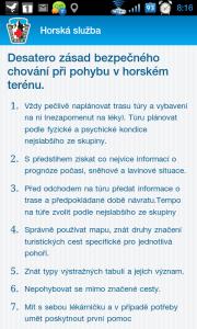 Desatero zásad bezpečného chování při pohybu v horském terénu