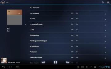 Skladby na otevřeném albu