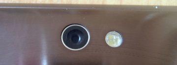 Detail na optiku fotoaparátu