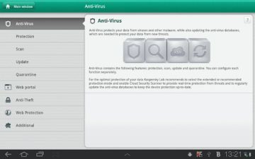 Kaspersky Tablet Security