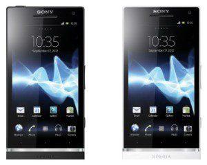 Sony XPERIA S v černé a bílé barvě