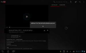 Aplikace Youtube se opakovaně hroutila s chybovou hláškou, a ani po týdnu se nám nepodařilo přehrát byť jediné video