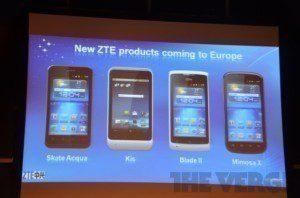 Nové telefony ZTE