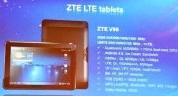 Prezentace tabletu ZTE V96