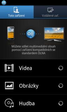 Aplikaci AllShare vyžijete, pokud vlastníte zařízení s podporou DLNA