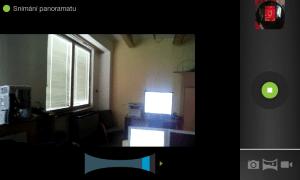 Pořizování panoramatického snímku