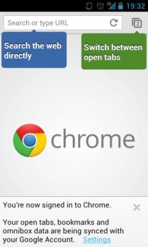 Webový prohlížeč Chrome pro Android