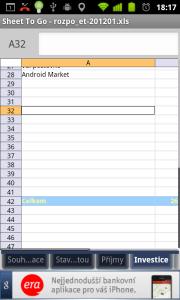 ...stejně jako s tabulkami vytvořenými v MS Excelu