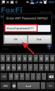 Doporučujeme použít heslo dlouhé minimálně osm znaků