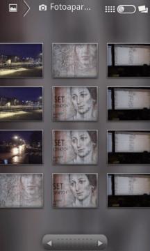 Můžete přepnout mezi zobrazením v mřížce, nebo seskupením podle data