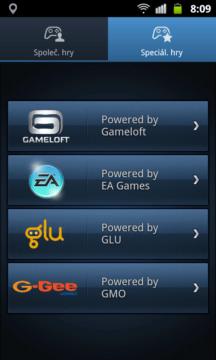 V Game Hubu najdete asi třicet her od Gameloftu, Glu a G-Gee