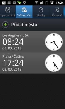 Kolik je kde hodin zjistíte v sekci Světový čas