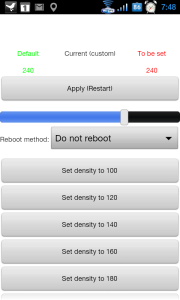 LCDDensity for Root