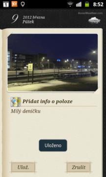 V Mini diáři můžete kromě textu přidat také fotku a informaci o poloze