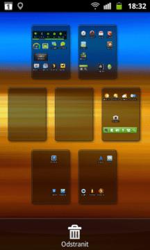 V tomto režimu je možné přidávat/odebírat plochy a měnit jejich pořadí