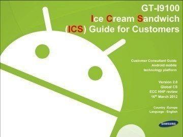 Uživatelská příručka pro majitele Galaxy SII s ICS