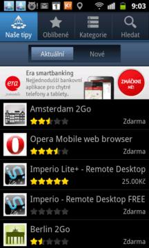 Dalším alternativním zdrojem softwaru jsou Samsung Apps