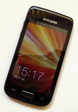 Čelní pohled na Galaxy W