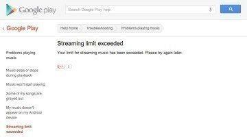 Limit na streamování hudby byl překročen...