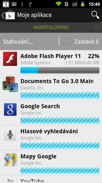 Google Play se také stará o aktualizace aplikací
