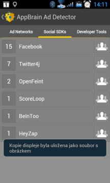 Ke kterým sociálním sítím mohou aplikace přistupovat?