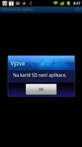 Pokud AppInstaller na kartě nenajde žádné balíčky, zobrazí pouze dialog.