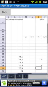 Stejně tak můžete prohlížet dokumenty MS Excel