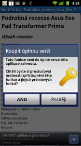 Editace dokumentů a další funkce jsou dostupné jen v plné verzi