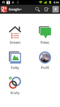 Jedna ze tří podporovaných sociálních sítí - Google+