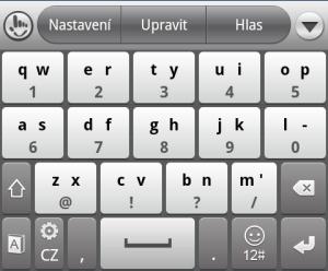 Méně obvyklá klávesnice se dvěma znaky na klávesu