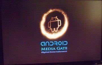 Animované logo s ikonou Androida