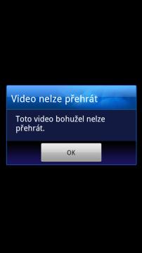Přehrávač si s videy neporadil