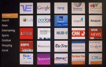 Websites je seznam doporučených stránek, roztříděný do osmi kategorií.