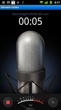 Jednoduchý digitální záznamník zastupuje graficky upravená aplikace Záznam zvuku