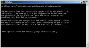 Chceme provést kontrolu skriptu na chyby