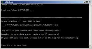 Výsledný obraz naší ROM najdete ve složce Output_Zip