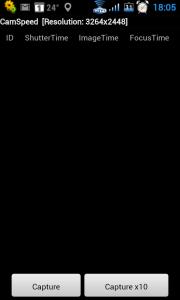 Když CamSpeed spustíte, zobrazí se z velké části černá obrazovka