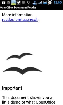 OpenOffice Document Reader