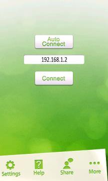 Můžete zkusit buď automatické připojení, nebo manuální zadání IP