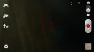 Aplikace fotoaparátu v režimu natáčení videa