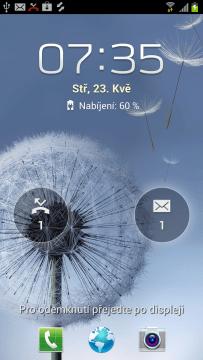 Zmeškaná volání a přijaté SMSky na odemykací obrazovce
