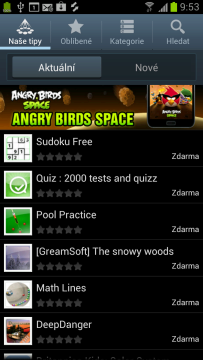 Alternativou k Obchodu Play je Samsung Apps