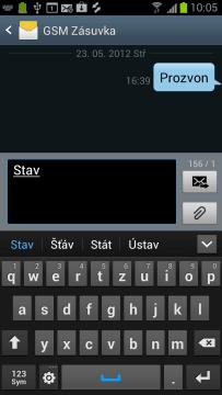 Psaní SMS zprávy