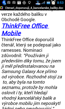 ThinkFree Office Mobile