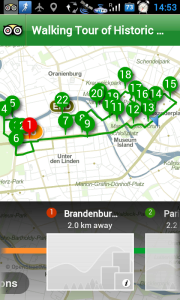 Plán procházky centrem Berlína