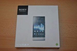 Sony Xperia P - krabička